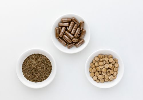 Celery seeds, tablets, and capsules