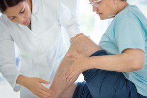 Senior woman in a massage treatment