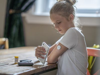 Young girl uses CGM to manage diabetes