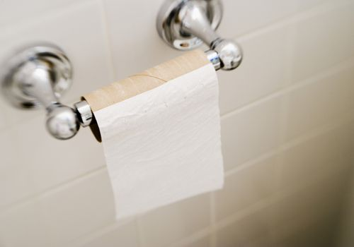 End of the toilet paper roll