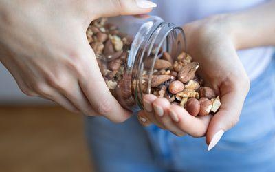 a jar of nuts