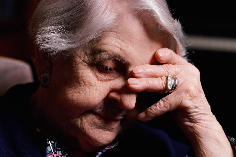 worried mature woman