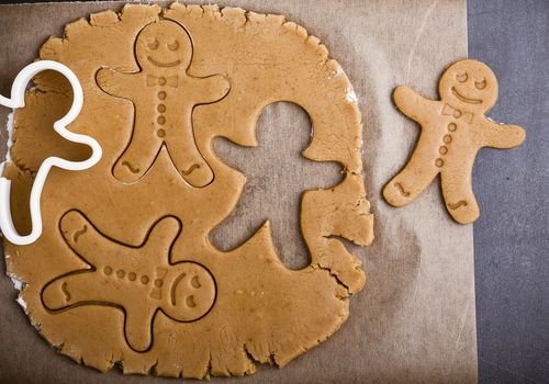 Christmas homemade gingerbread man