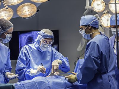 Doctors team in operating room