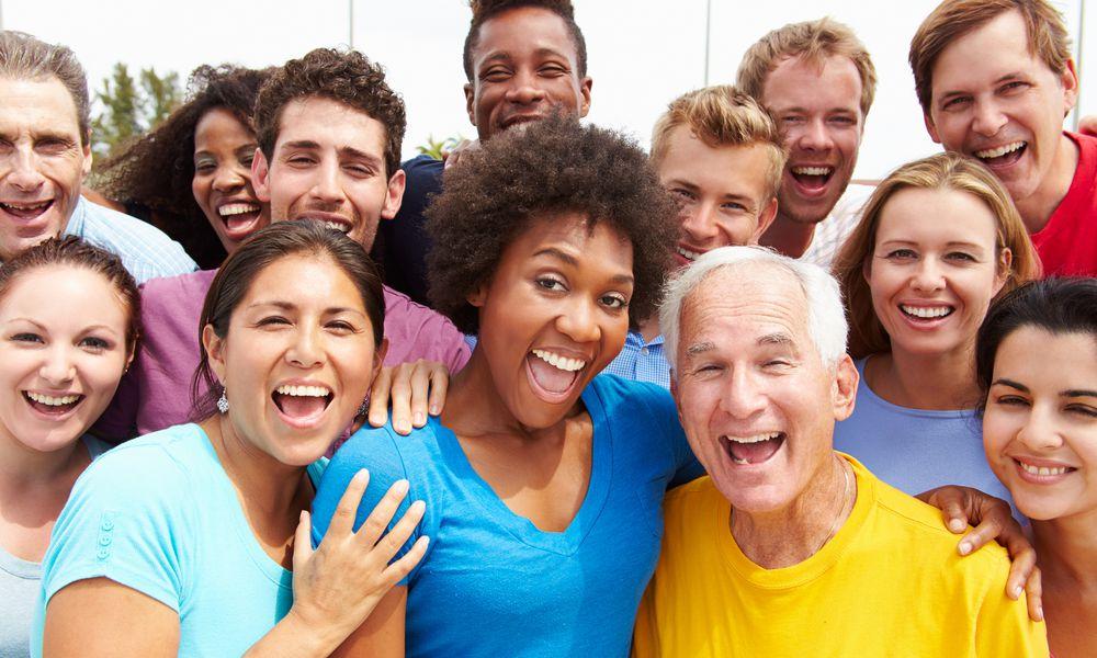 Multi-Ethnic Crowd