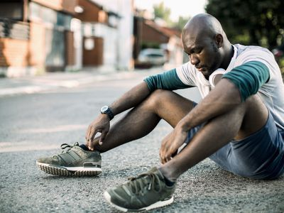 Man fatigued from exercise