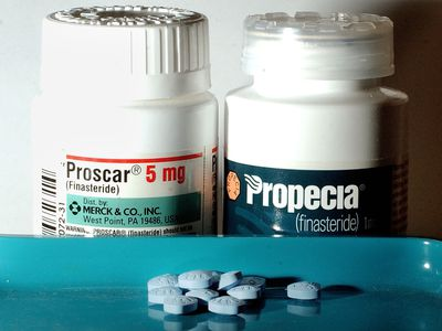 Two bottles of Proscar and Propecia