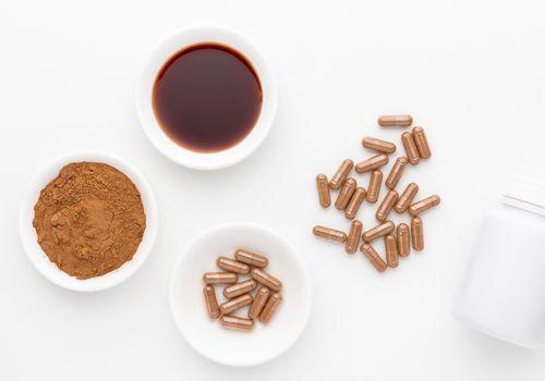 Carob liquid, powder, and capsules