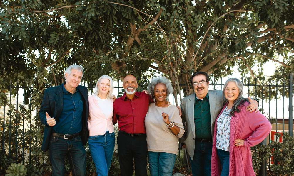 Diverse Group of older adults
