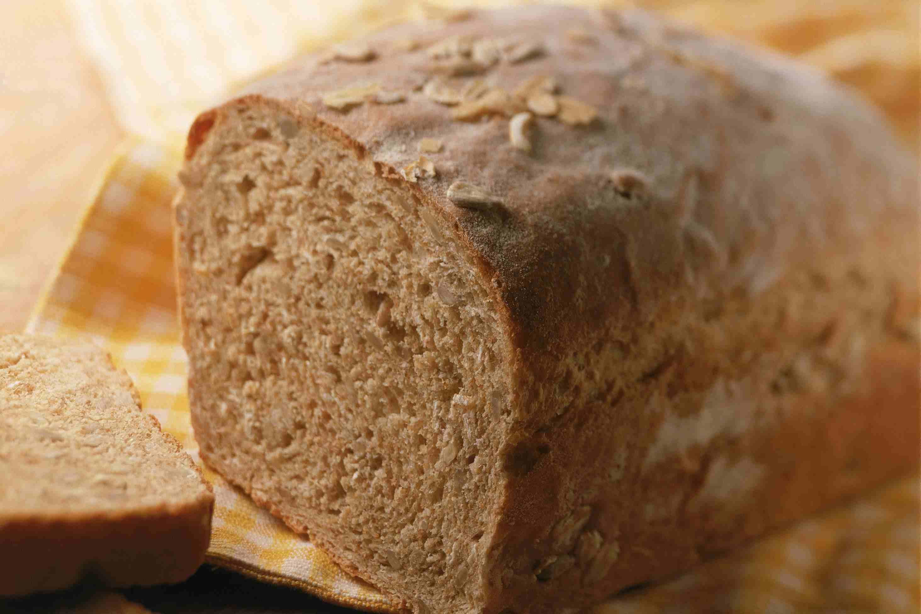 Whole grain bread loaf