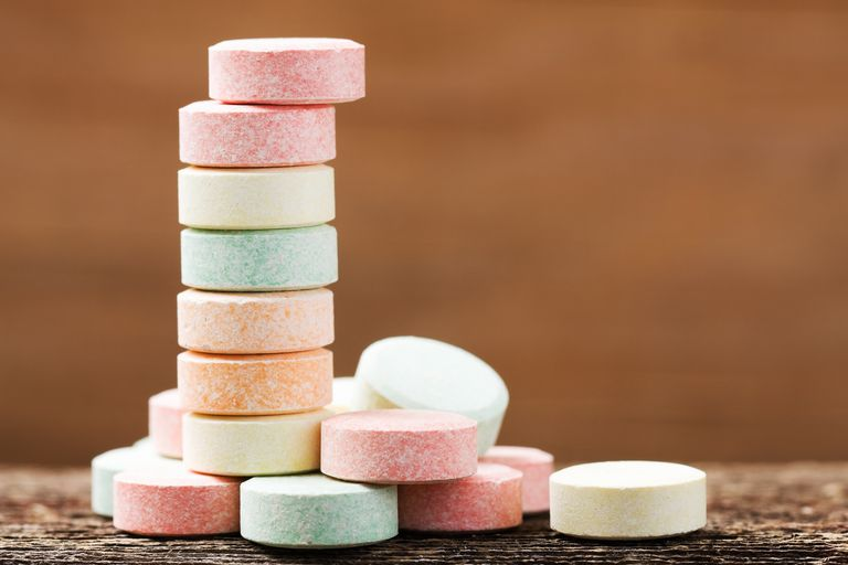 Stack of Antacid Tablets