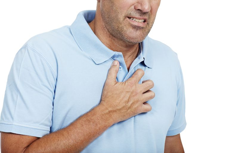 man with heartburn