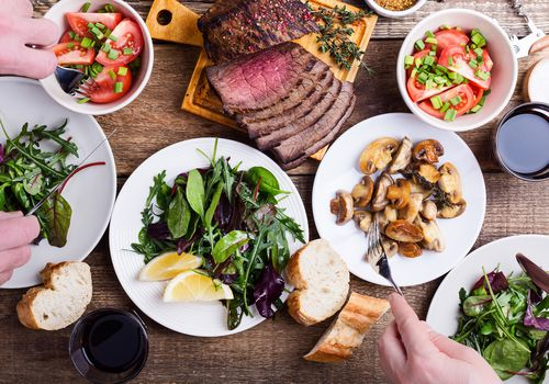 Beef with a Mediterranean Diet Table