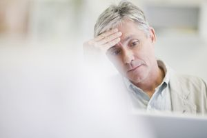 Working at a computer can lead to headaches.
