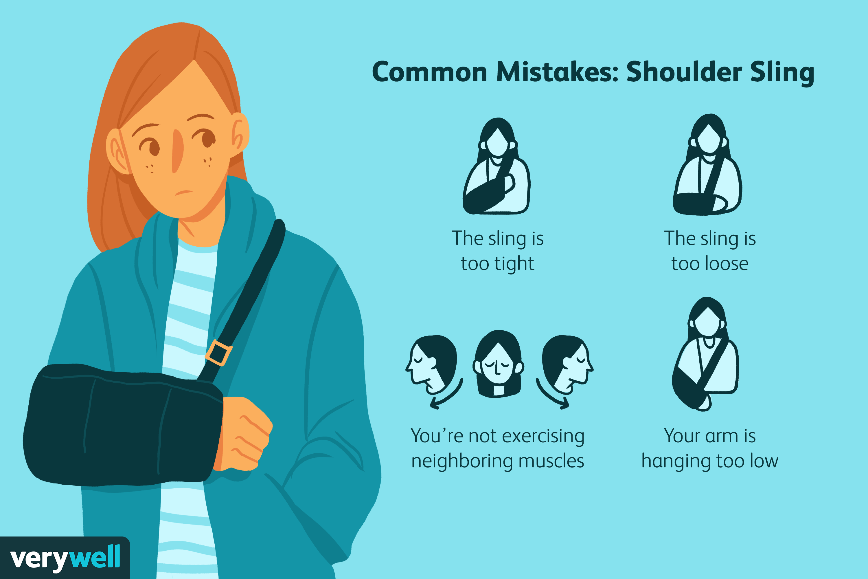 Common Mistakes For Wearing a Shoulder Sling