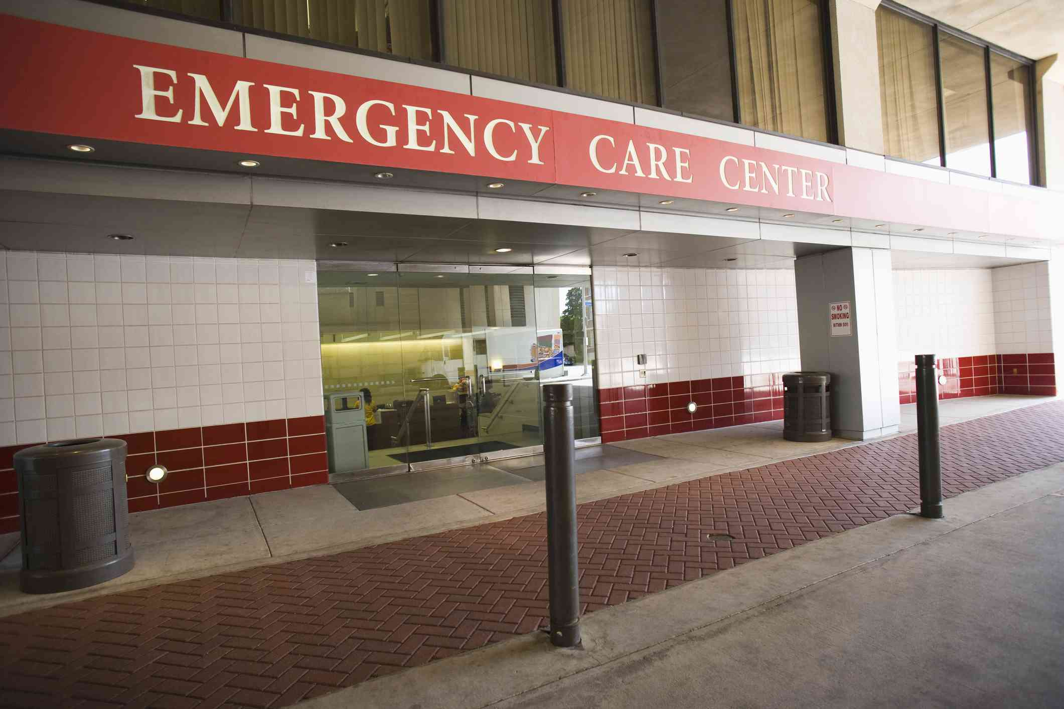 External view of hospital emergency room entrance