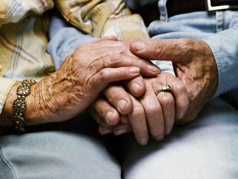 elderly couple's hands