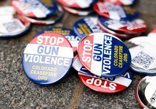 stop gun violence buttons