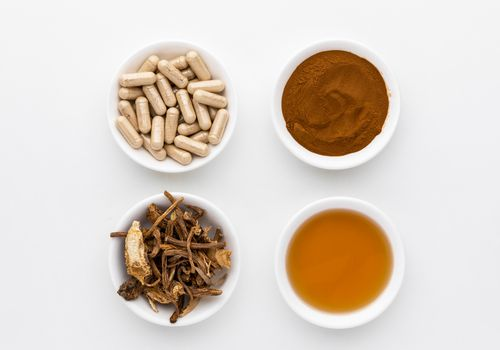 Angelica capsules, extract, dried root, and powder