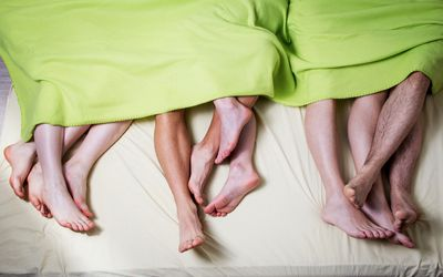 people in bed