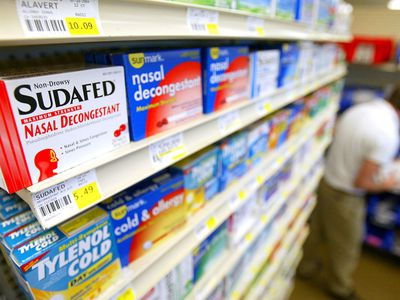 cold medicine aisle