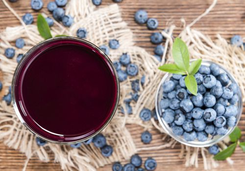 Blueberries and blueberry juice extract