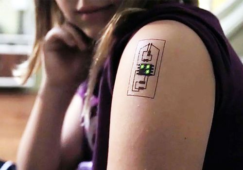 "The research team at Chaotic Moon Studios has been working on ""biowearables"" called Tech Tats that use conductive paint to create circuitry"