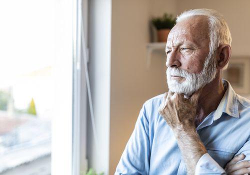 Concerned senior man