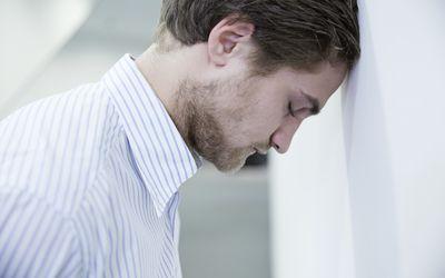 young man in despair