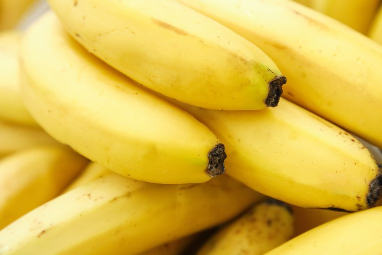 Fresh yellow bananas raw fruits