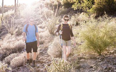 Couple hiking in Arizona