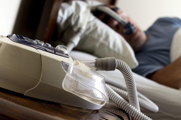 CPAP machine, a form of noninvasive ventilation