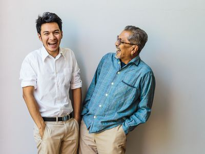Young man and old man laughing together Federal rules require individual and small group health plans to cap premiums for older enrollees at no more than 3 times the premiums charged for a 21-year-old