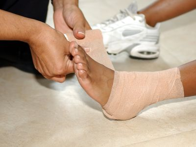 Medical: pains and sprains - stock photo
