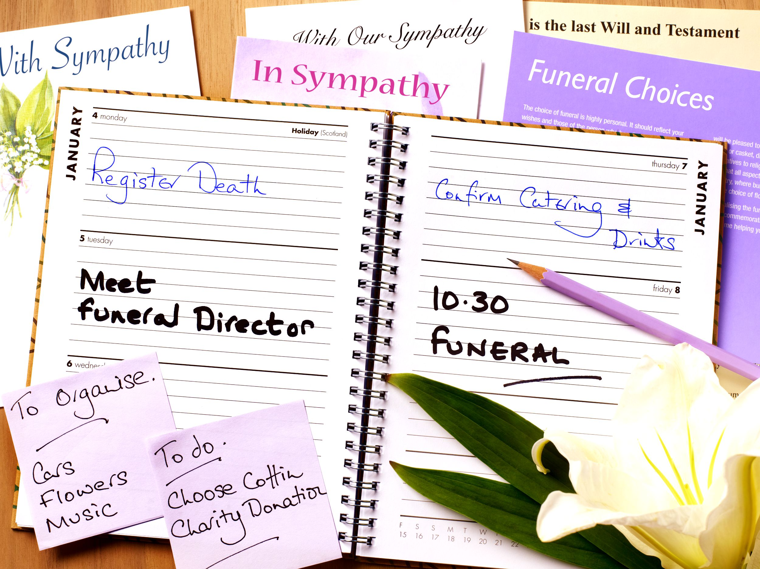 how to plan a funeral or memorial service