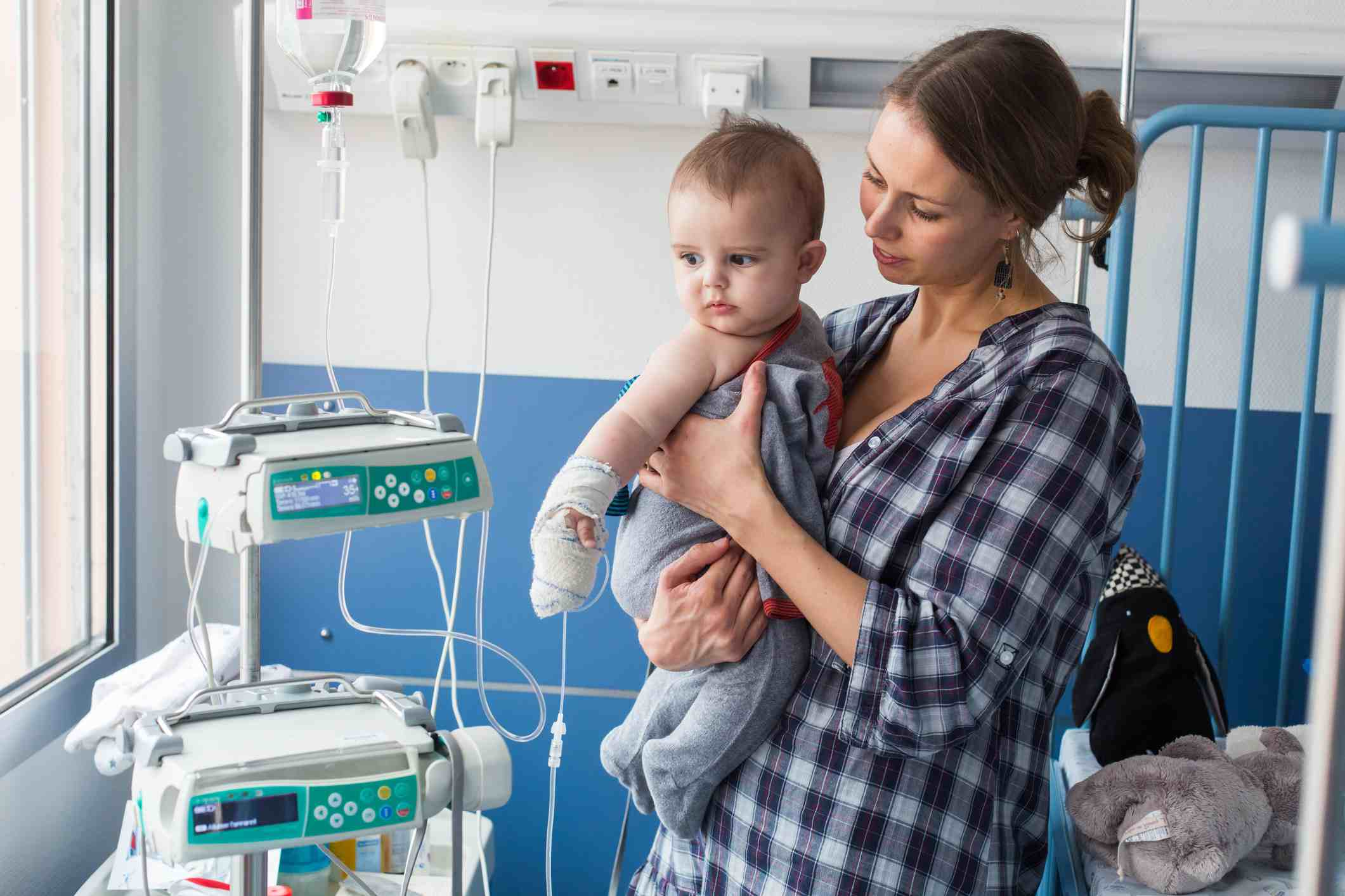 a baby with kidney issues