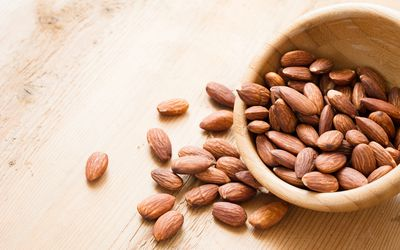 Almonds in a bowl