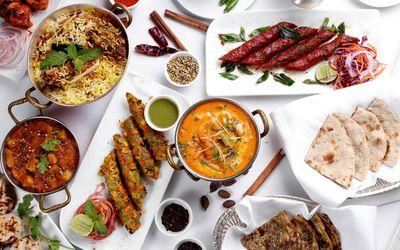 Indian food spread