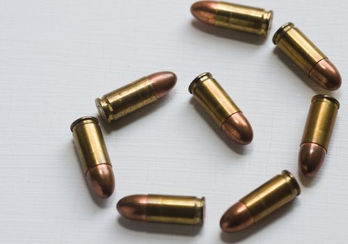 Bullets forming a spiral shape