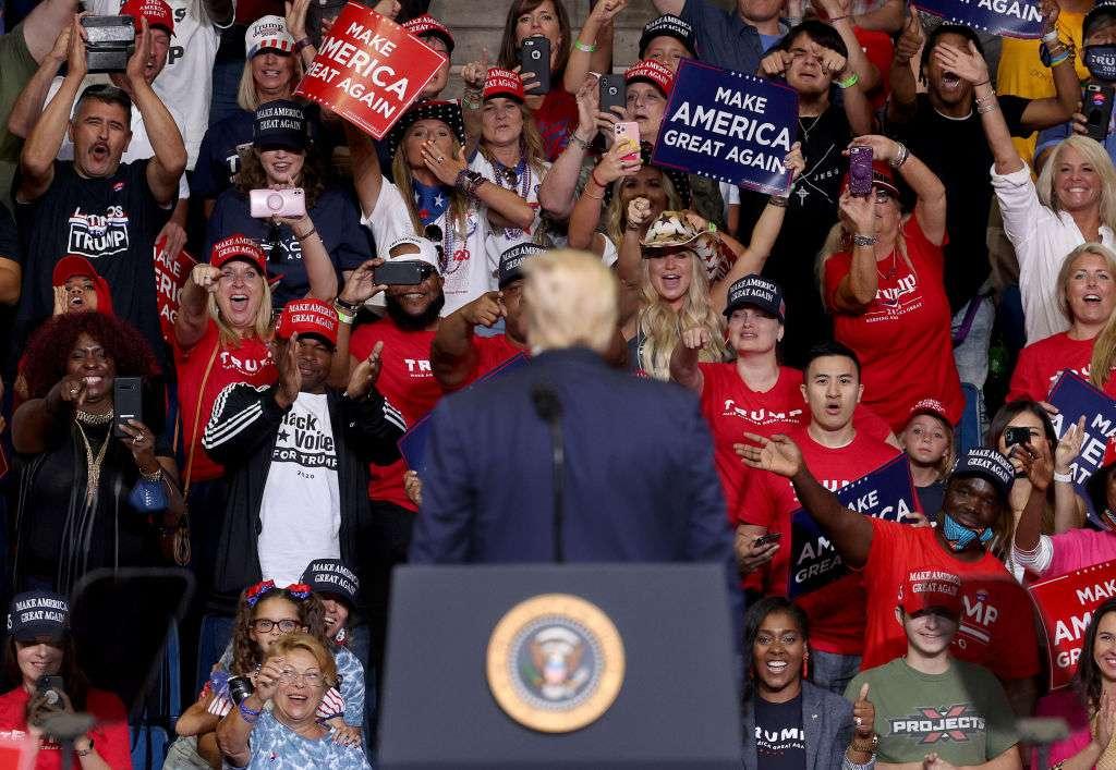 President Trump hosts a rally in Tulsa, Okla., on June 20