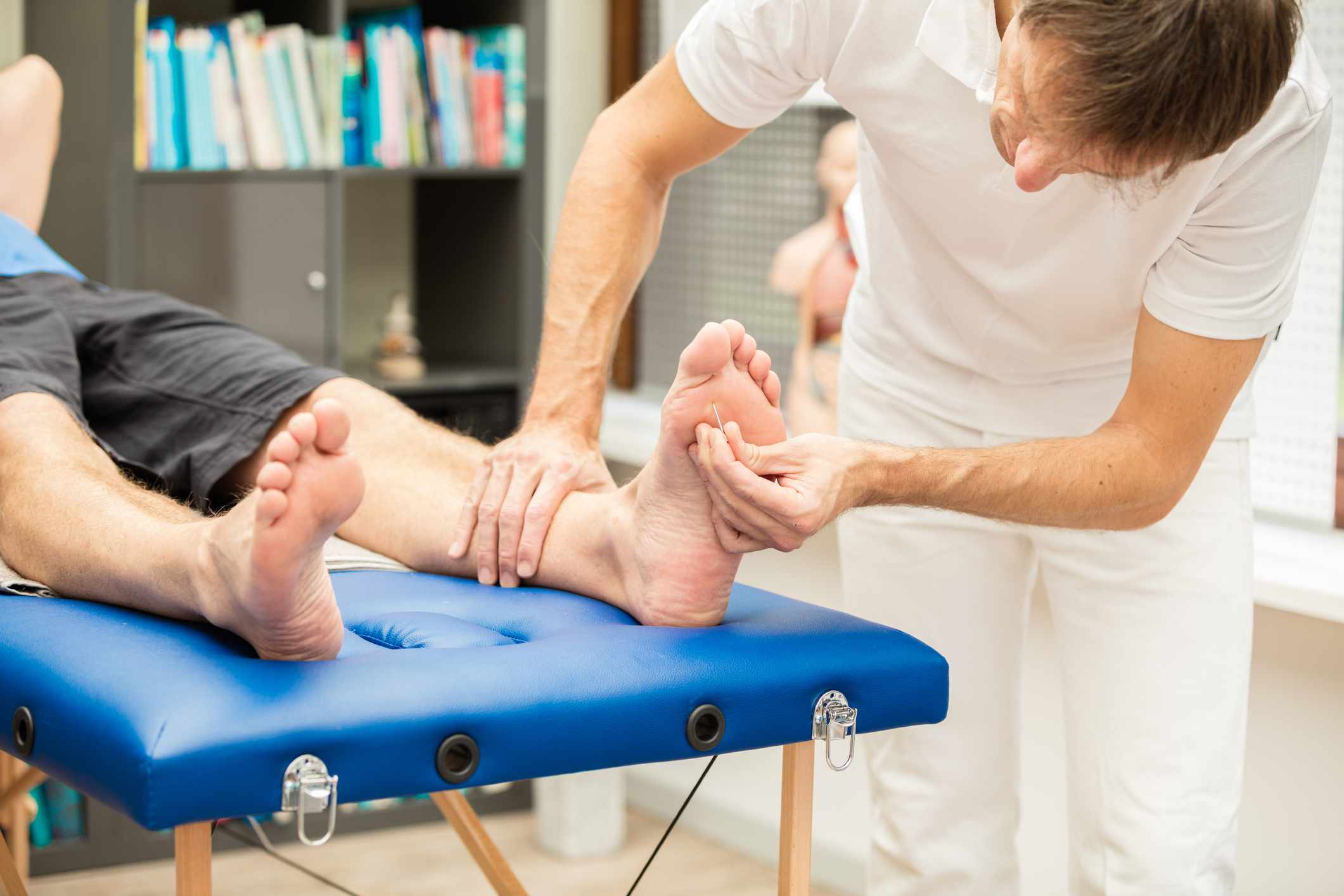 Examination for neuropathy or nerve pain.