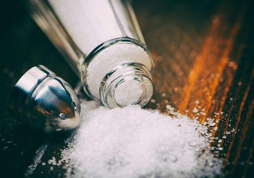 Salt Shaker on table
