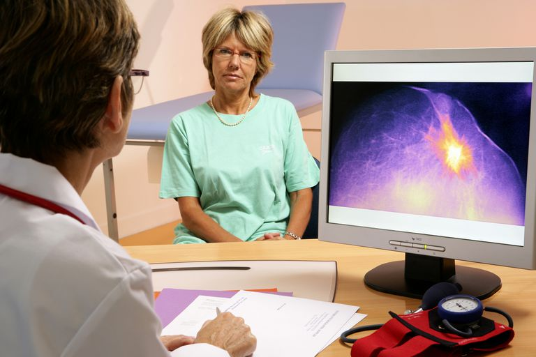 woman consulting doctor about the latissimus dorsi flap breast reconstruction procedure