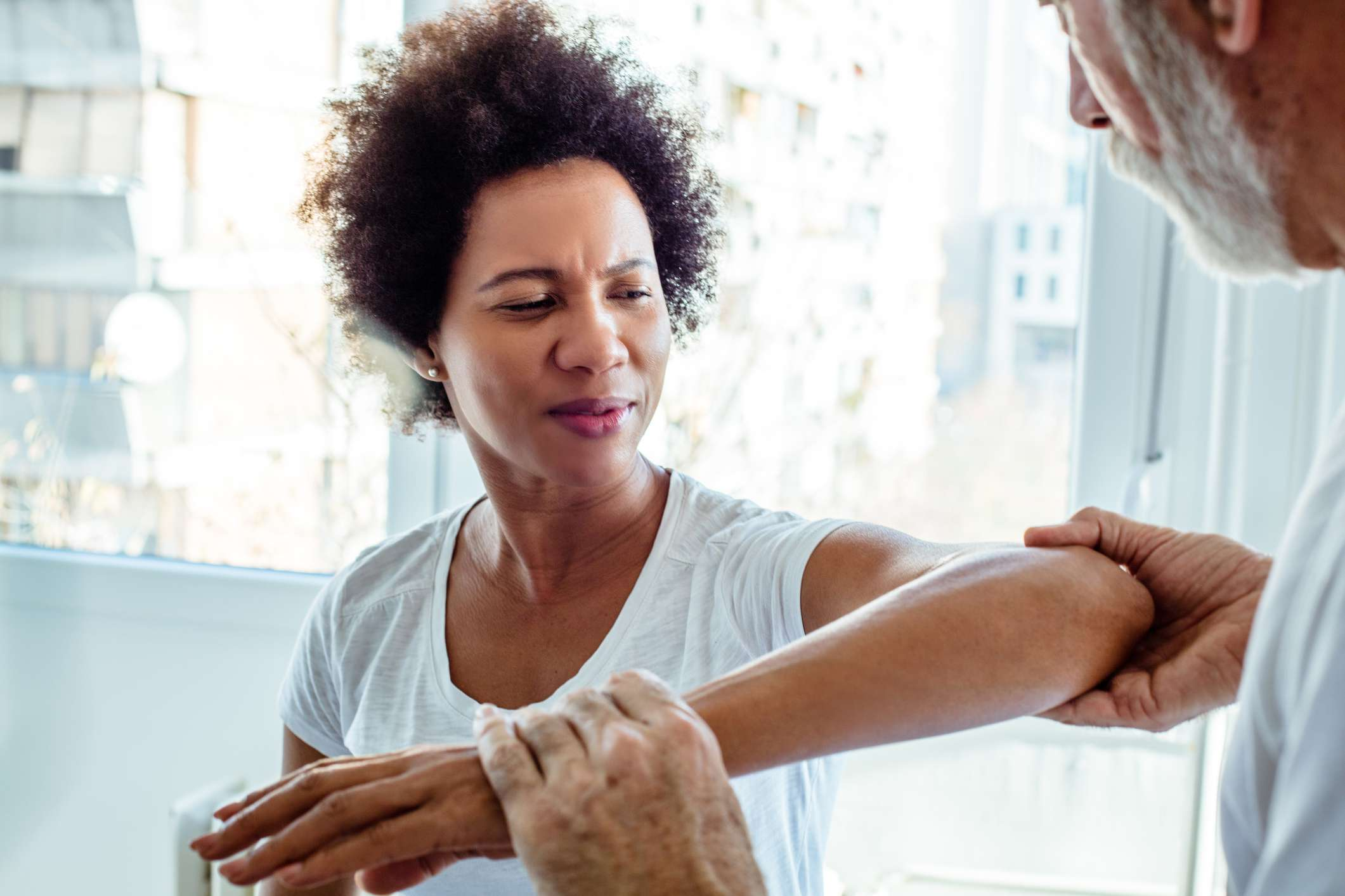 Arthralgia joint pain leads person to see doctor