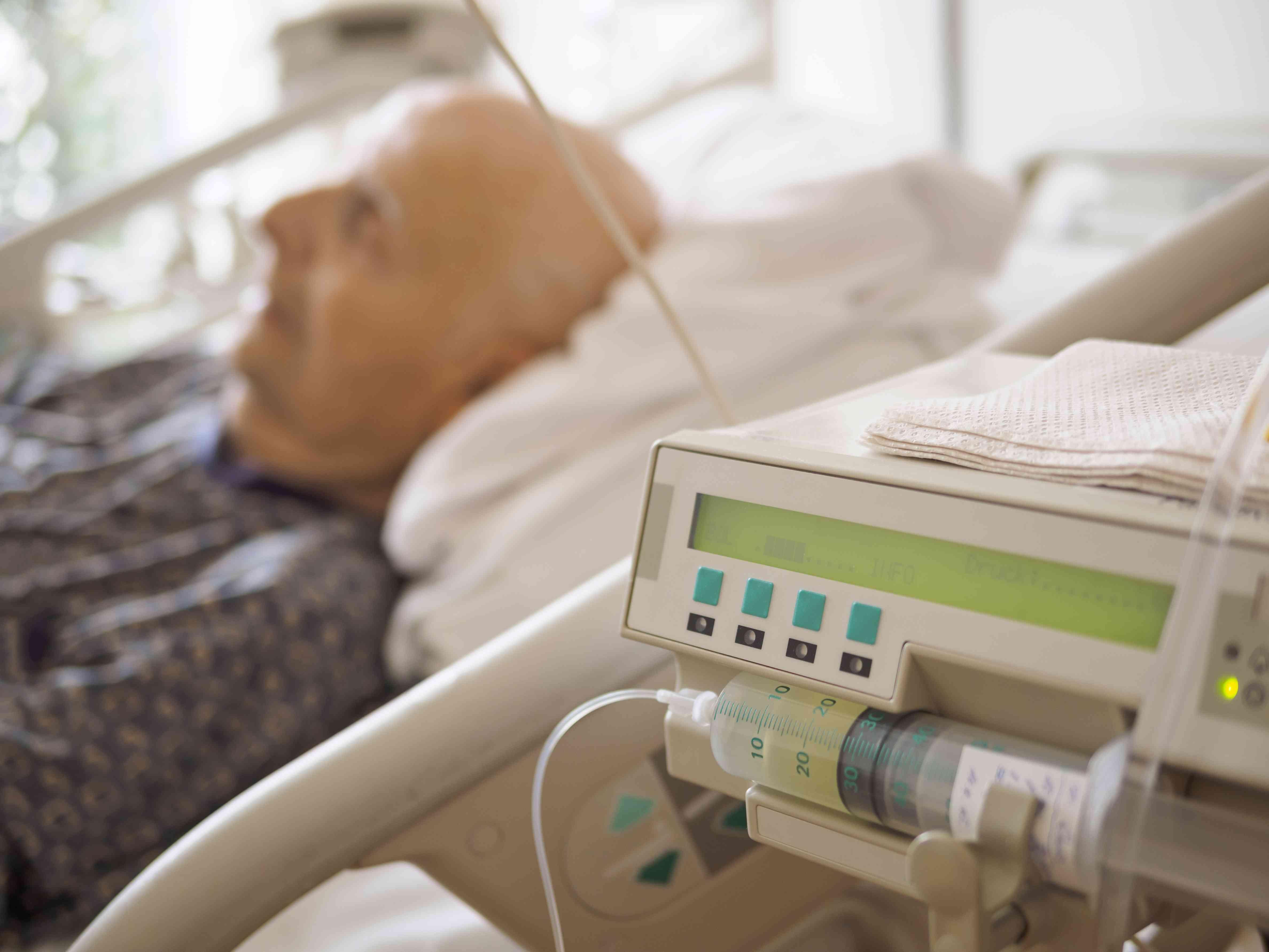 Older man at palliative care unit
