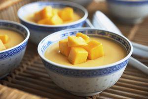 Mango Mousse in dessert bowls
