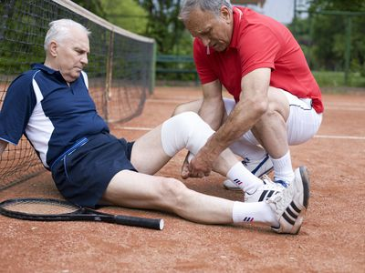 Knee injury playing tennis could lead to post-traumatic osteoarthritis.