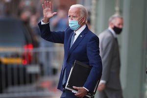 president elect joe biden waving