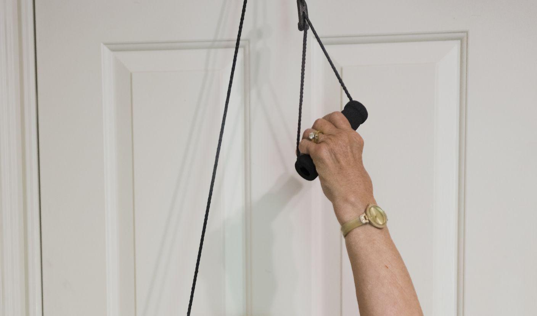 Over the door shoulder pulley