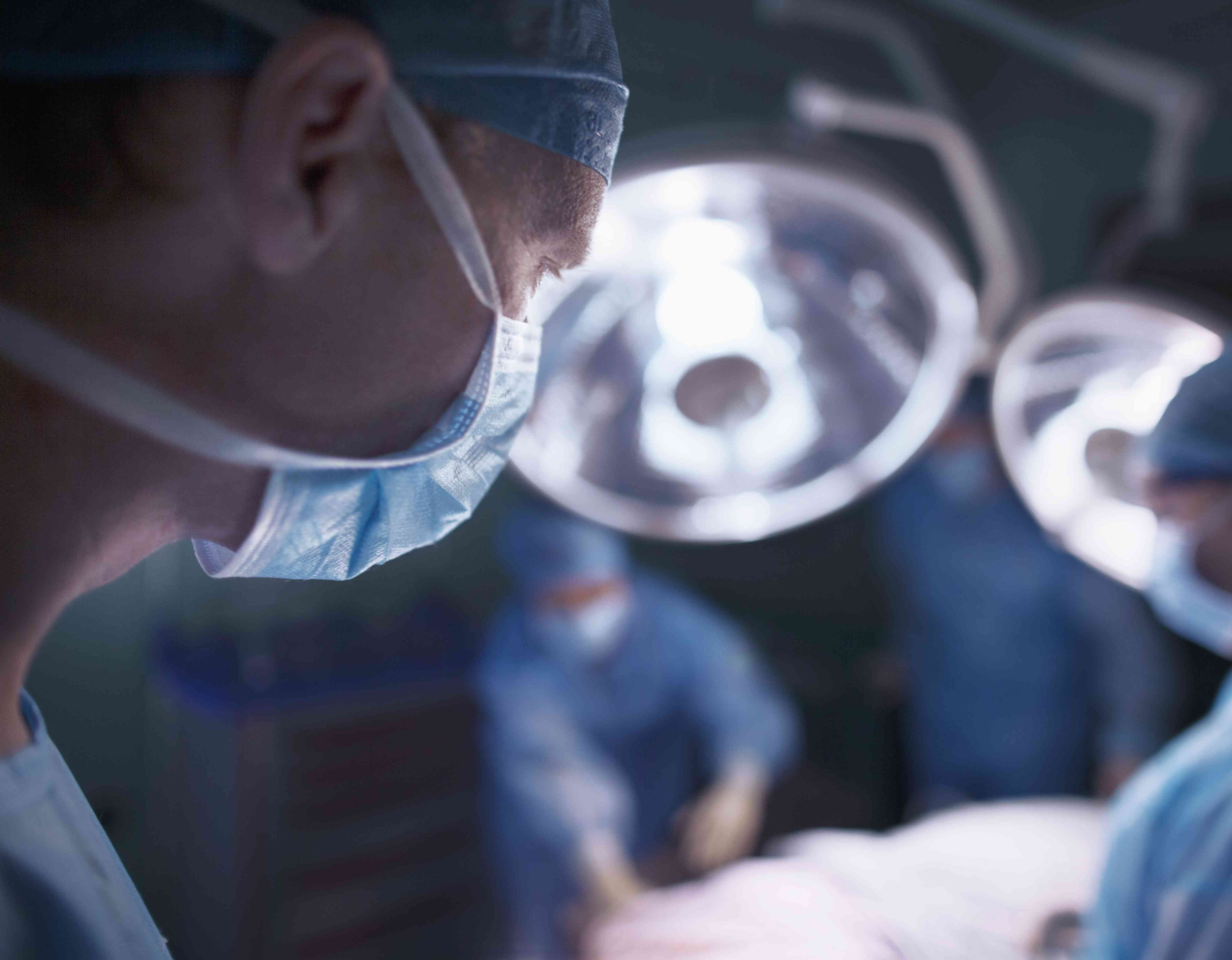 Doctors in hospital operating room